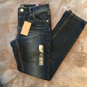 Girls Justice Jeans.  Super Skinny.  10 1/2. NWT
